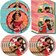 Unique Elena of Avalor Dinnerware Bundle Officially Licensed by Unique | Napkins & Plates | Great for Kids Birthday Party, Princess Party