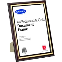 CARVEN QFWDRDWA4 Document Frame, Redwood, Gold A4