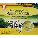 Fortune - Compressed Premium Quality White Snow Fungus Mushroom - 8.8 Oz - (Tremella Fuciformis) - Unbleached