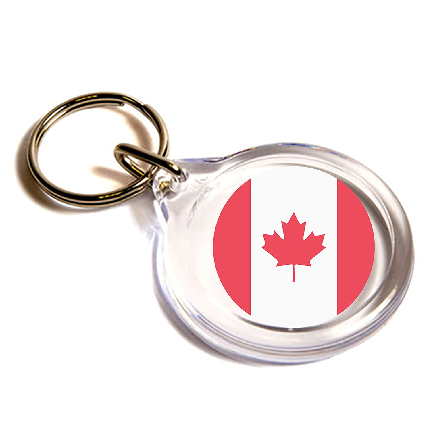 Amazon com: Flag for Canada Emoji Key Ring: Office Products