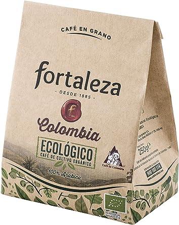 Café FORTALEZA - Café Grano Ecológico Colombia bolsa 250 gr [Pack ...