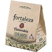 Café Fortaleza - Café en Grano Ecológico Colombia, Puro Sabor, 100% Arábica, Tueste Natural, Aroma Floral, Ideal para…