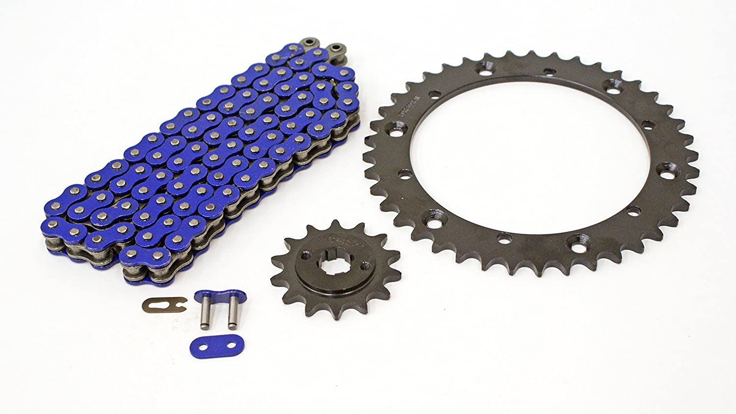 88-06 fits Yamaha YFS200 200 Blaster Blue Non-O Ring Chain /& Black Sprocket 14//41 92