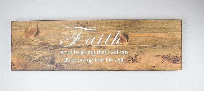 Faith Wood Sign   Christian Wall Décor U2013 Bible Verse Plaque Part 76