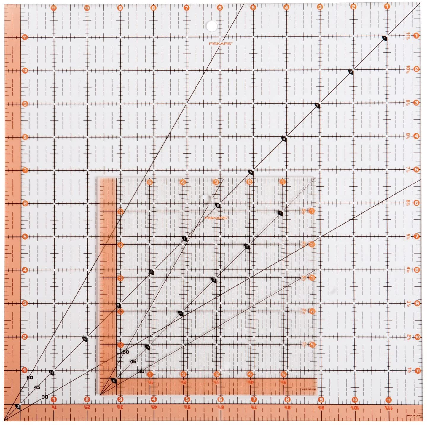 Quilting Patchwork Craft Ruler Square VARIOUS SIZES 3 mm thick clear acrylic .