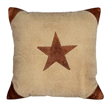 Buy Priti Vintage Leather Star Cushions Cover Small Pillow case Standard  Size Free Deliver Online at Low Prices in India - Amazon.in