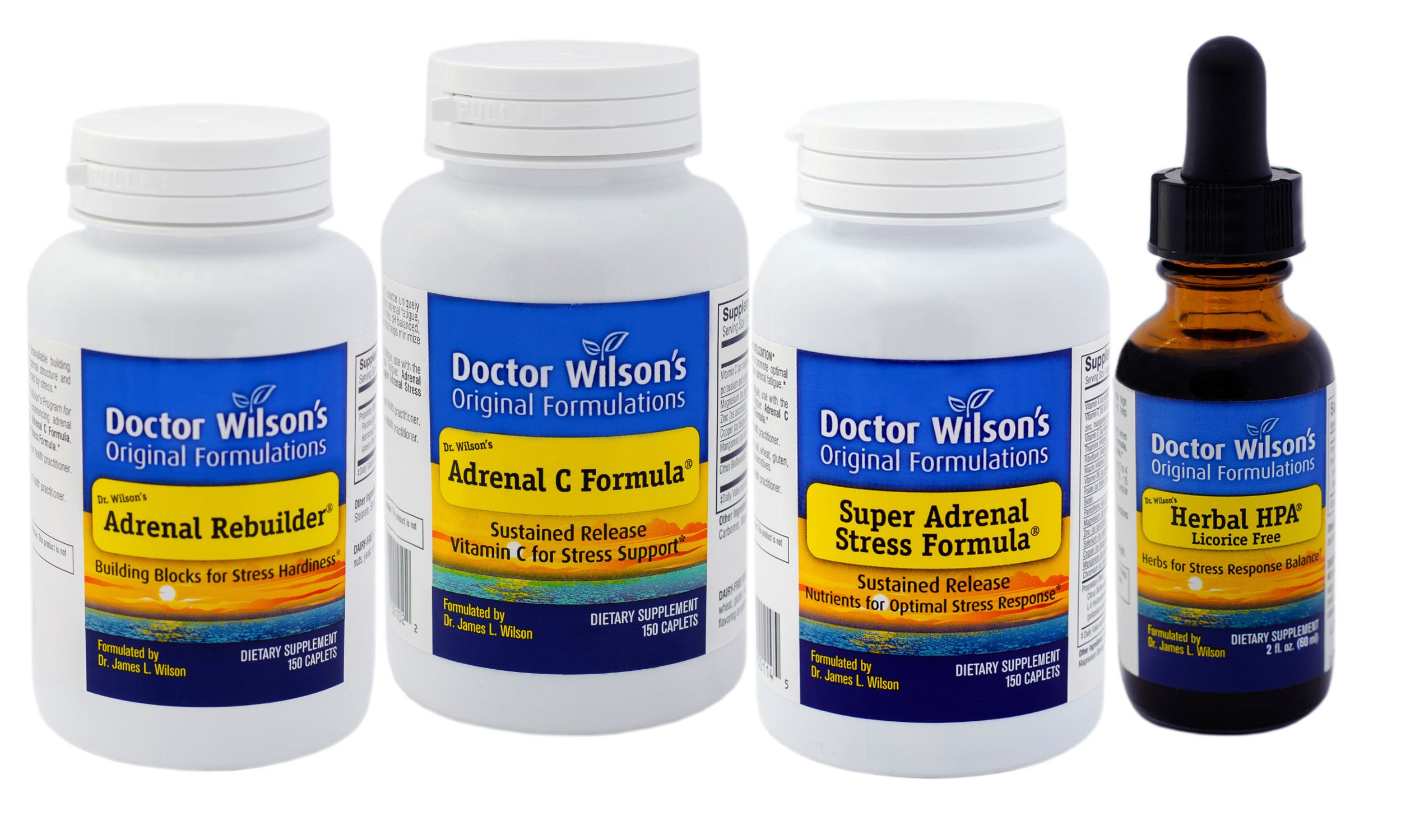 Dr. Wilson's Adrenal Fatigue Quartet (150 Count with HPA 2oz)