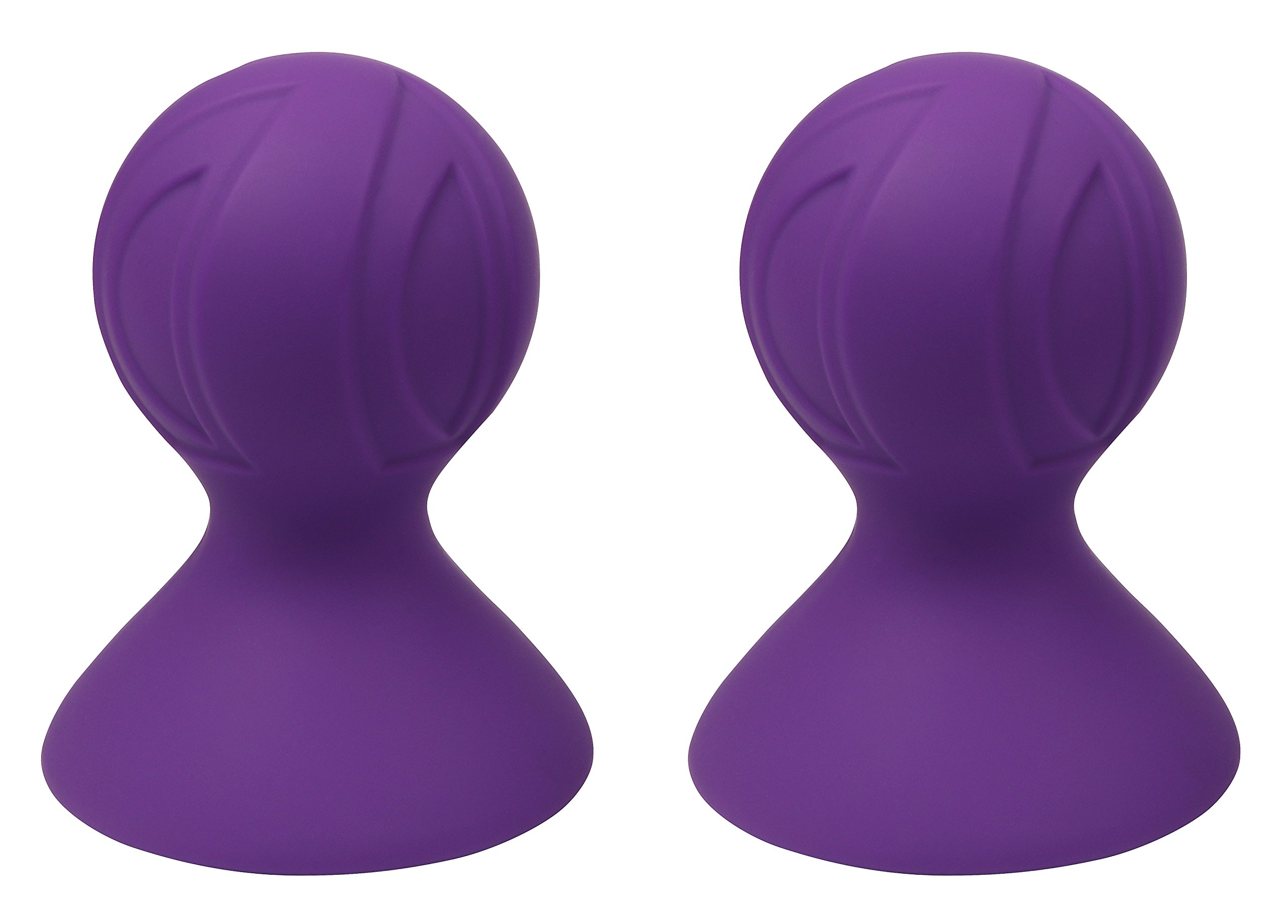 NippleSuckers FDA-Approved Silicone Nipple Suction Discreet Package 2-Pack Purple (Suction Cup Dia. 3.18 inch)