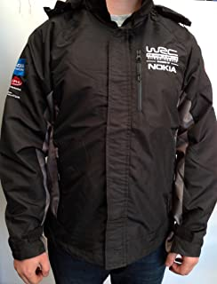 New Official World Rally Championships Wrc Wind Proof Jacket Grey Stripes Xl