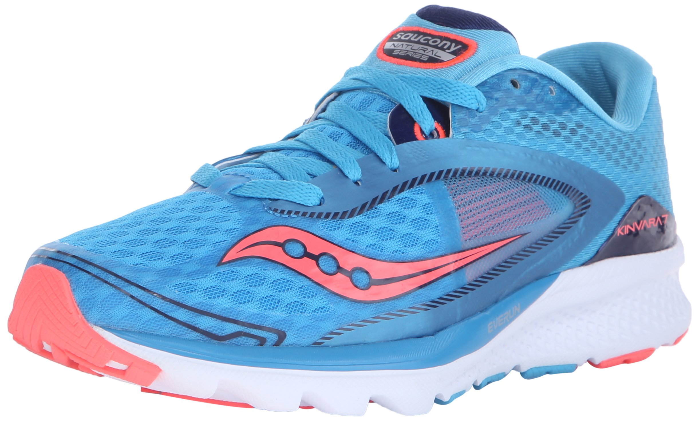 Saucony Women's Kinvara 7 Running Shoe, Blue/Navy/Citron, 11 M US