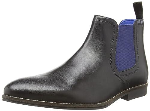 Red Tape Newton, Chelsea Boots Homme, Noir (Black Leather), 41 EU