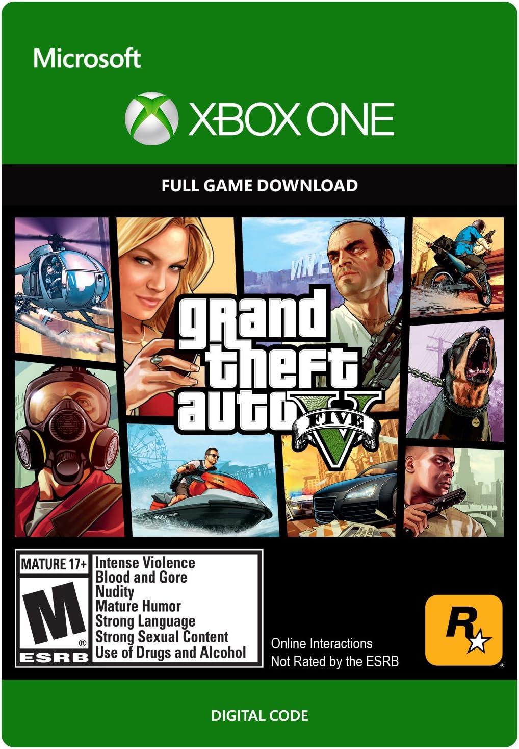 Amazon com: Grand Theft Auto V - Xbox One [Digital Code]: Video Games