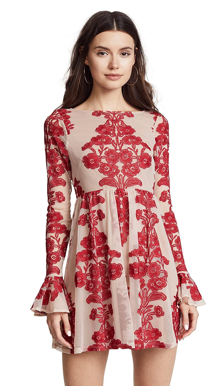 For Love & Lemons Women's Temecula Mini Dress Red X-Small