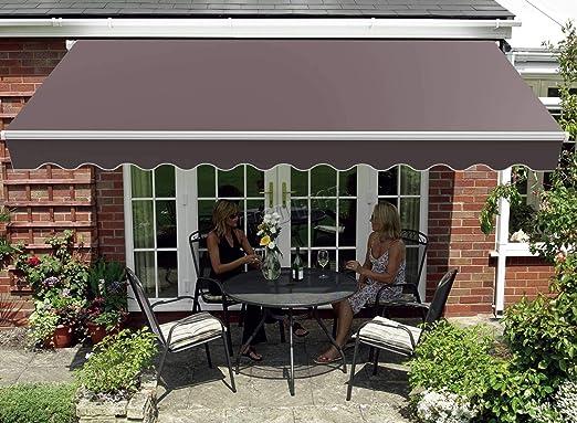 Westwood - Toldo retráctil de Aluminio para jardín o Patio, 2 x 1, 5 m, Color marrón: Amazon.es: Jardín