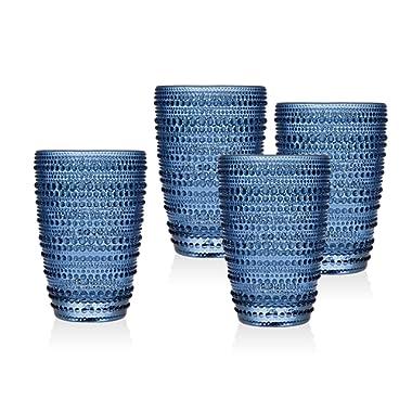 Godinger Silver Art Lumina Blue Set 4 Hb