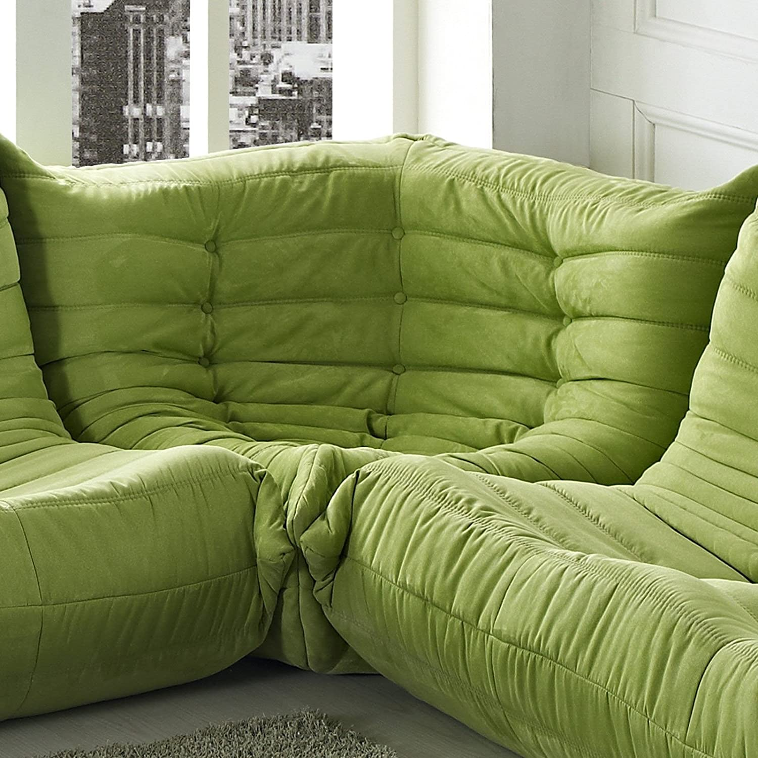 Amazon Modway Waverunner Modular Sectional Corner in Green