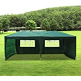 Tonnelle tente pavillon de jardin réception chapiteau pliable amovible oxford anti-UV avec sac de transport grand espace 6L x 3lm vert foncé neuf 50