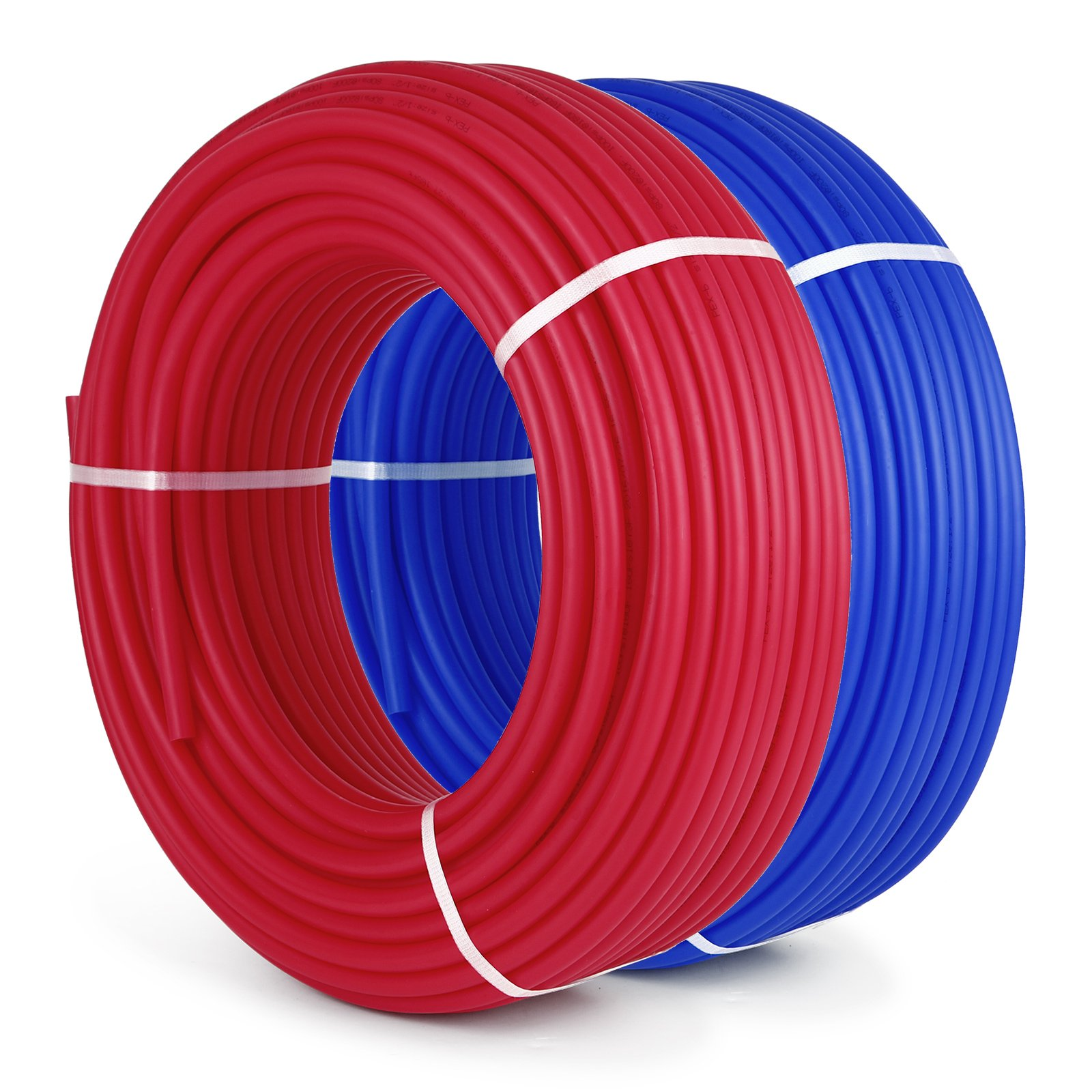 OrangeA PEX Tubing 1/2 Inch Potable Water Pipe 2 Rolls X 300Ft Tube Coil PEX-B Non Oxygen Barrier Piping for Hot Cold Plumbing and Radiant Floor Heating Applications