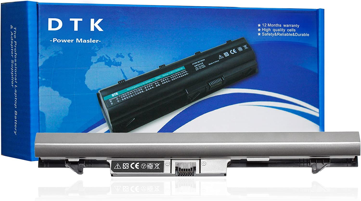 DTK New Laptop Battery Replacement for HP ProBook 430 431 G1 430 G2 P/N: RA04 [14.8V 2200MAH] (Sliver Gray)