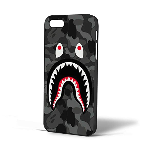 new styles 57bd9 dbf14 Bape Shark Black Army Pattern for Iphone Case (iPhone 6s Black)
