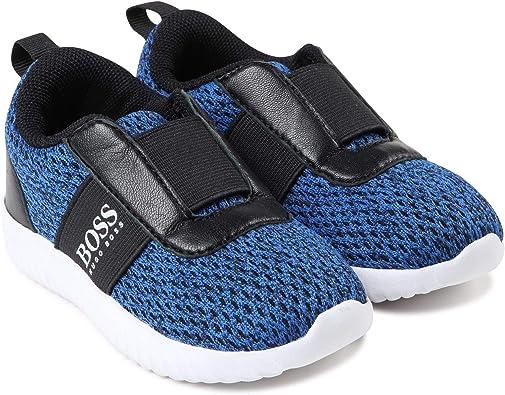 Hugo Boss Baby Mesh Look Sneakers, Bleu