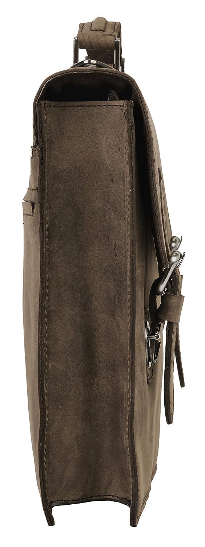 Harold's Leado Messenger läder 38 cm Natur, Braun