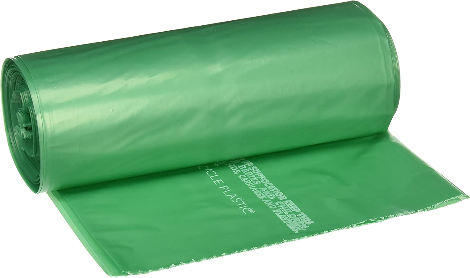 """STOUT by Envision G3340E11 Controlled Life-Cycle Plastic Bags, 33"""" x 40"""", 33 gal Capacity, 1.10 mil Thickness, Green (Pack of 40)"""