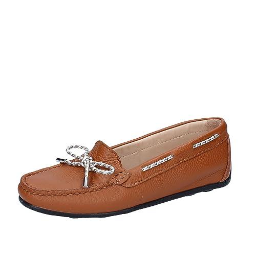 VITTORIA MENGONI - Mocasines de Piel para mujer Marrón marrón Marrón Size: 38: Amazon.es: Zapatos y complementos