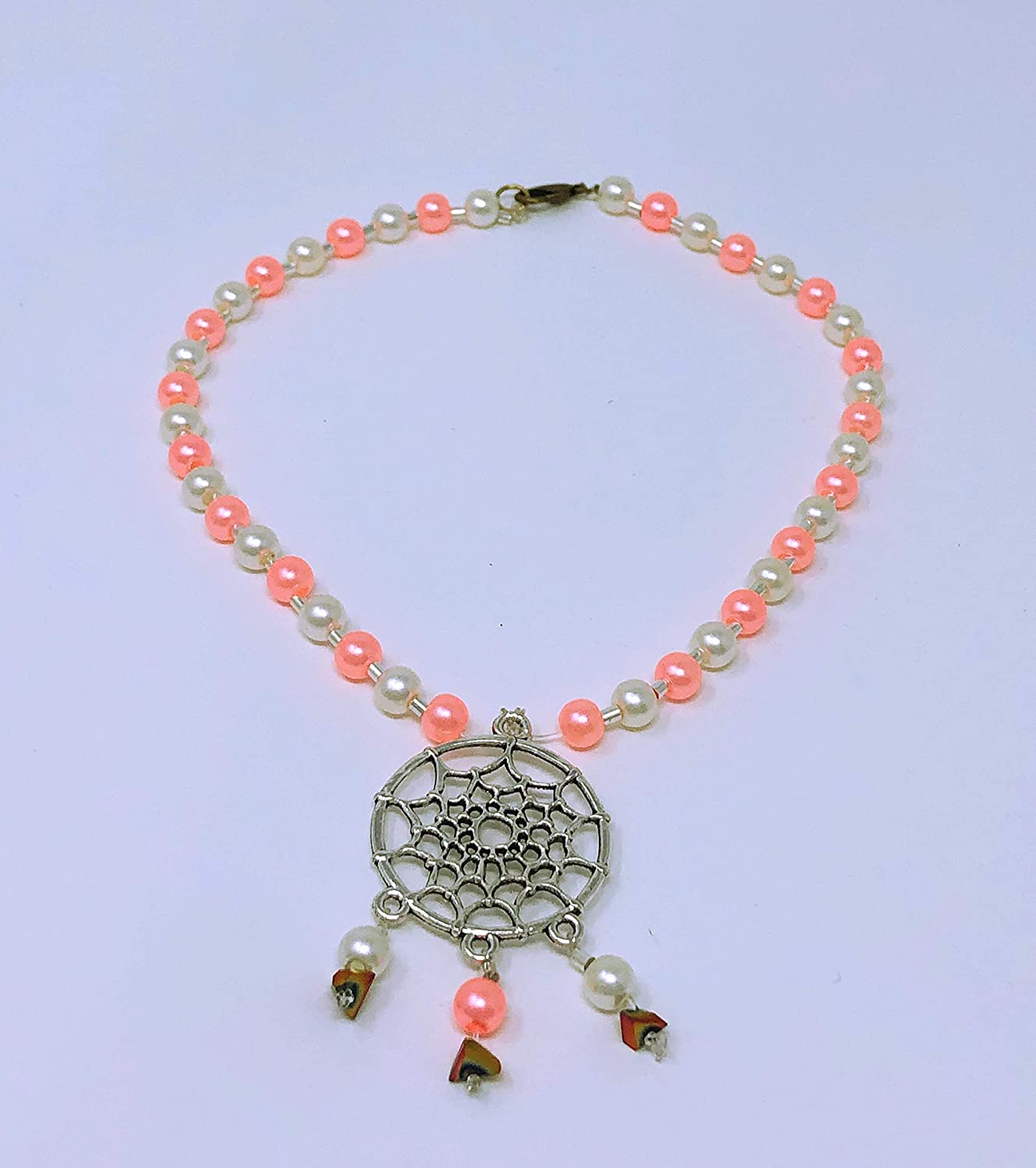 Pendant Dream Catcher with Crystal Bead