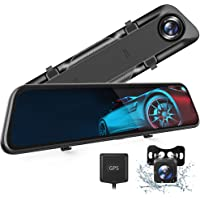 """VanTop H612T 12"""" 4K Mirror Dash Cam for Cars, Voice Control Full Touch Screen Rear… photo"""