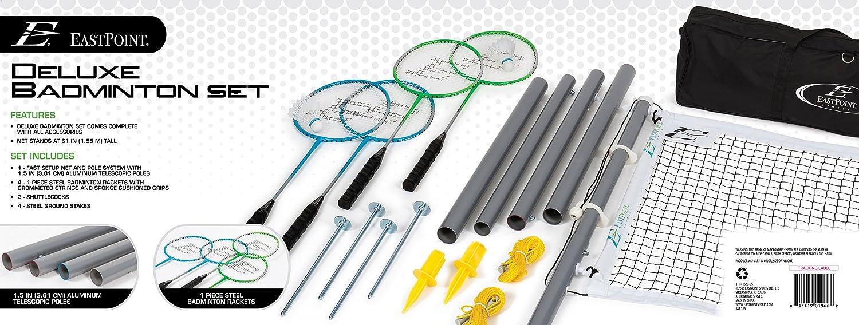EastPoint Sports Deluxe Badminton Set Set Set B01GI6QL4I Badminton & Federball-Sets Elegante und robuste Verpackung fff273