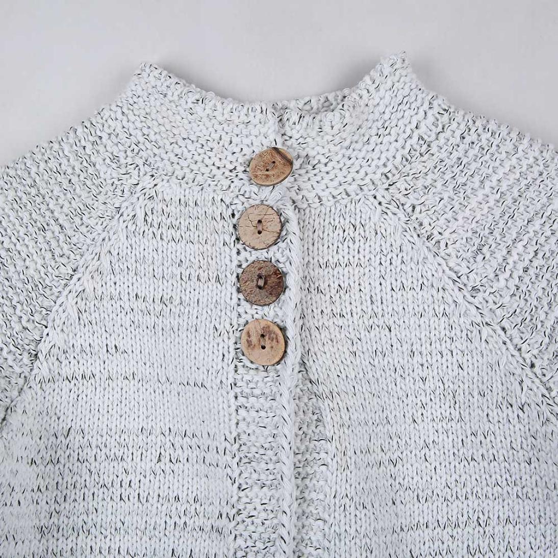 45f480a83846 Sunbona Neband Toddler Baby Girls Cute Autumn Button Knitted Sweater ...