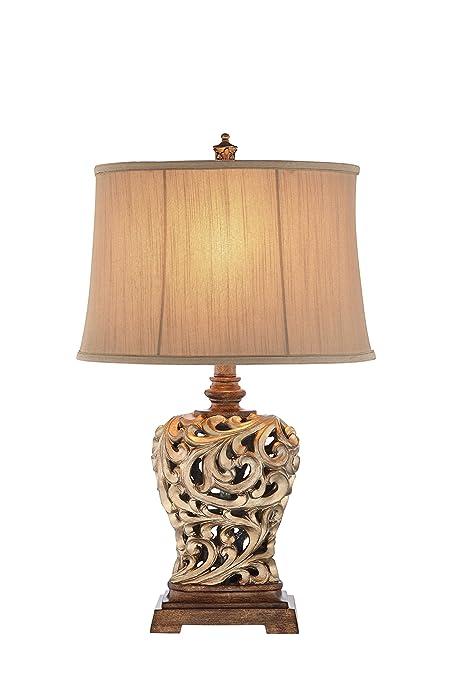 Amazon.com: Illuminada 3 Vías 28.5-inch Open Scroll lámpara ...