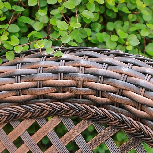 Reviewed: HAPLIFE Patio Set 2 PCs Rattan Wicker Outdoor Furniture Rocking Chair Set Water-Resistant