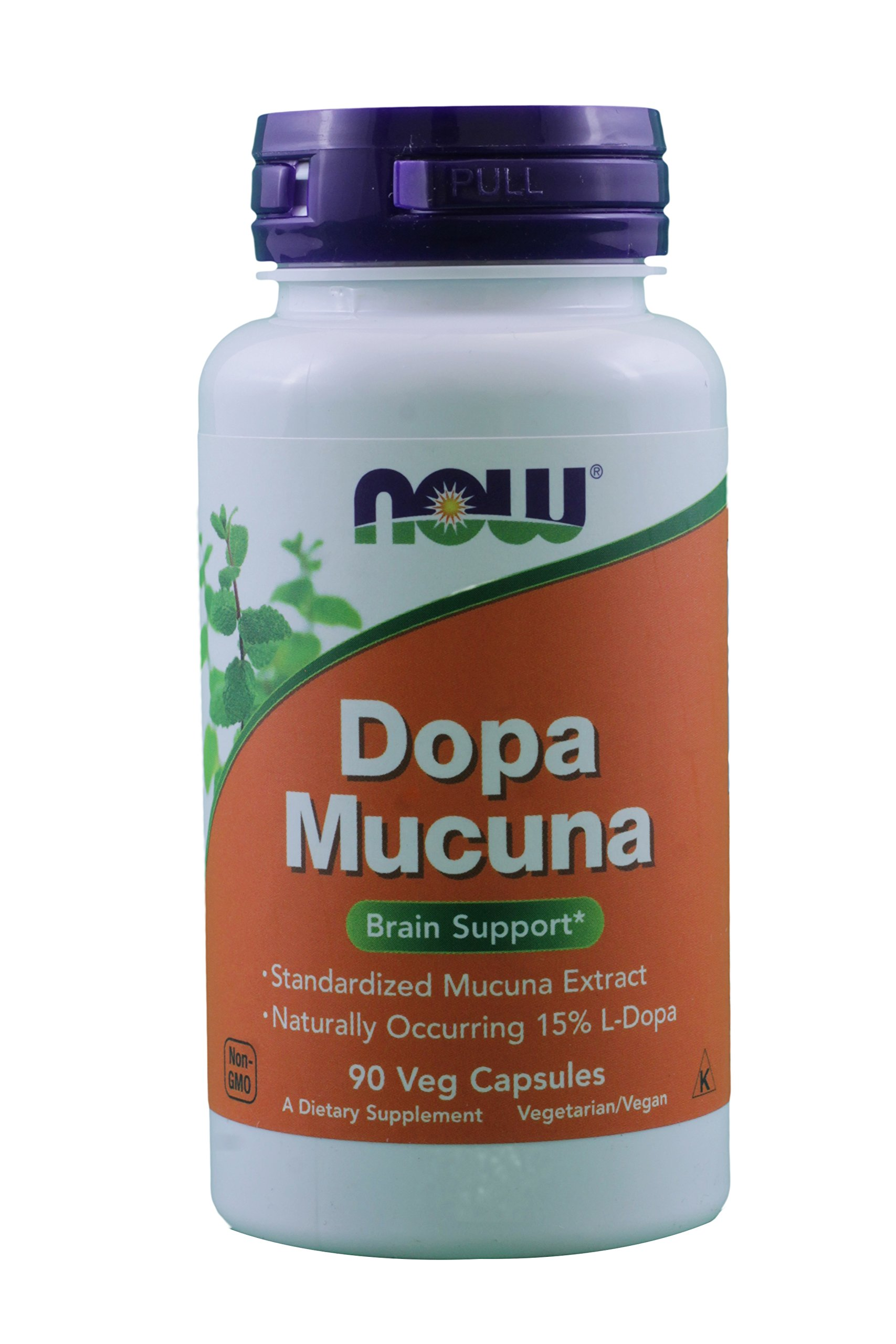 DOPA Mucuna 90 Vcaps by NOW (Pack of 2)
