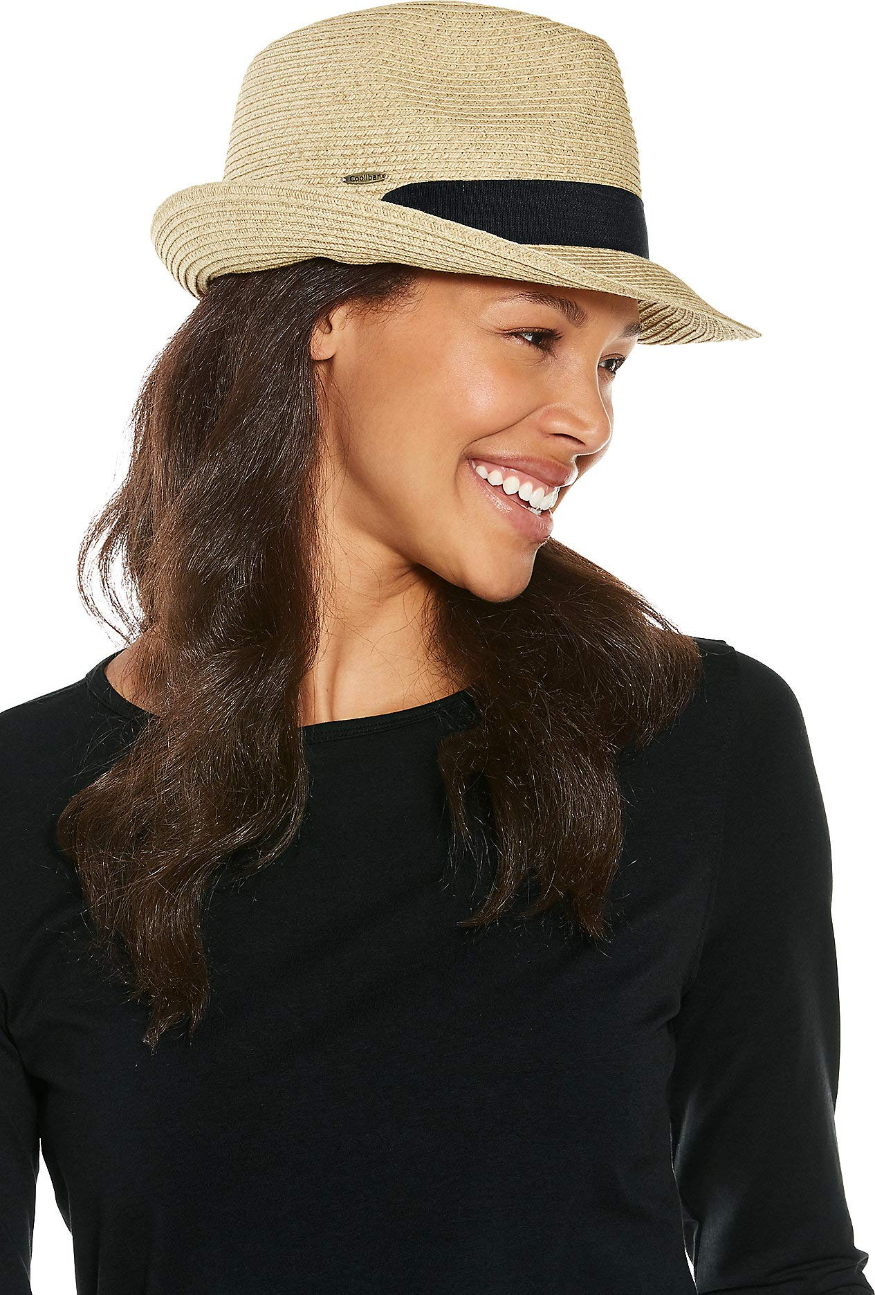 Coolibar UPF 50+ Women's Megan Fedora - Sun Protective (One Size- Natural)
