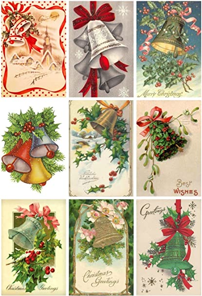Victorian Vintage Christmas Magazine Cover #101 Printed Collage Sheet 8.5 x 11