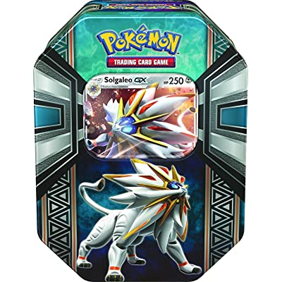 Pokemon TCG: Legends of Alola Solgaleo-GX Tin | Collectible Trading Card Set | 4 Booster Packs, 1 Ultra Rare Foil Promo Card Featuring Solgaleo-GX, Online Code Card | Battle and Build Your Pokedex: Toys & Games