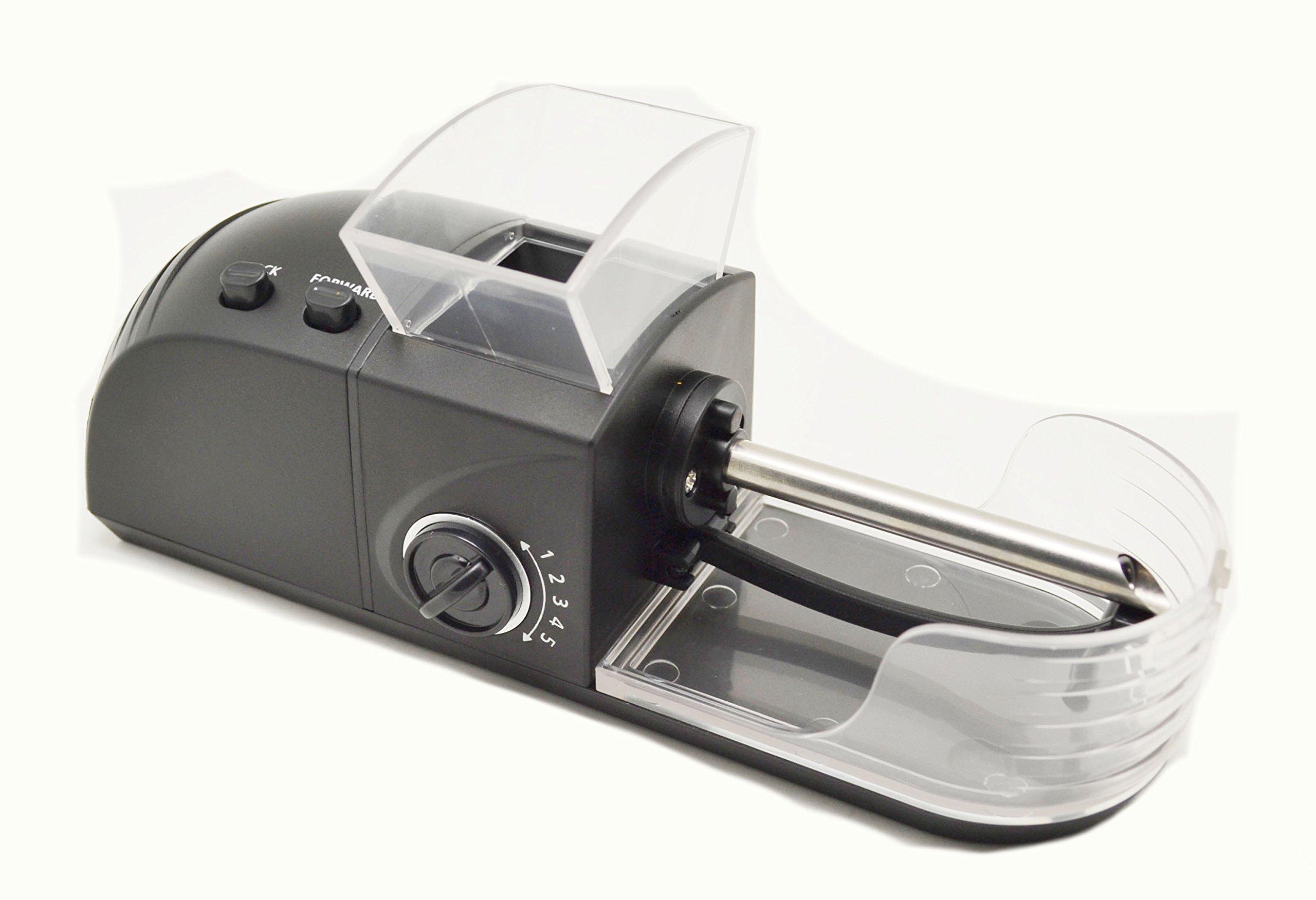 Injector Machines, 6.5 mm Slim Tube auto Cigarette Machine, Cigarette Maker, with Clear Hopper, C-84AS (Black) by EDO
