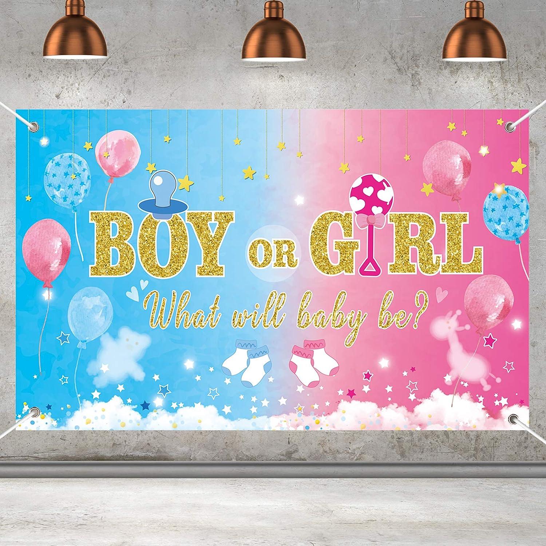Gender Reveal Party Supplies Gender Reveal Banner Backdrop Large Gender Reveal Yard Sign Backgroud Gender Reveal Party Decorations Indoor Outdoor