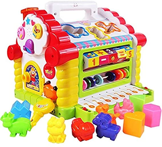 Popsugar Activity Cube Kids Toddler Baby Educational Toy Multipurpose Early Learning Game Play Center,