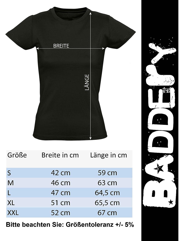 Bici Downhill BTT Deporte Regalo para Ciclista MTB Mountain-Bike T-Shirt Entallado Camiseta de Bicileta para Damas: Bikes of The World Organize Camisetas Mujer-es Retro