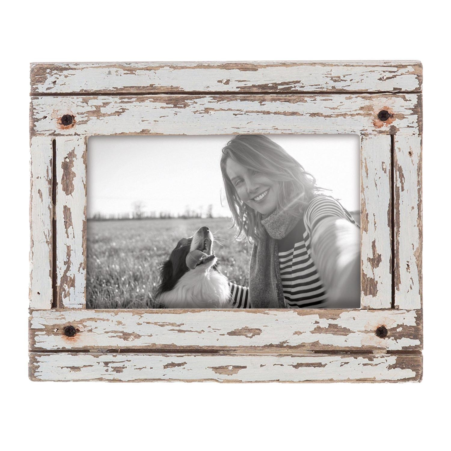 Foreside Home & Garden FFRD06190 4X6 Heartland Photo Frame White