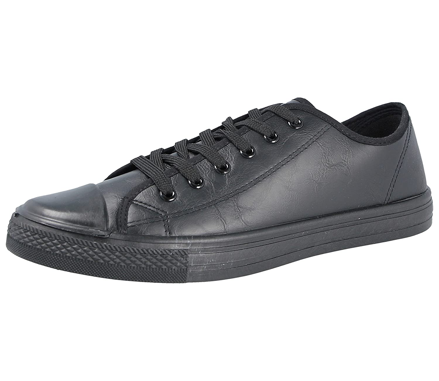 TALLA 41 EU . Mens Baltimore/Academia bajo Top Hi Top Lienzo Toe Cap Lace Up Bombas de Zapatilla Deportiva All Star Zapatillas Casual Zapatos tamaño 6 – 12