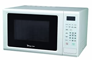 Magic Chef 1.1-Cu. Ft. 1000W Countertop Microwave Oven with Push-Button Door in White