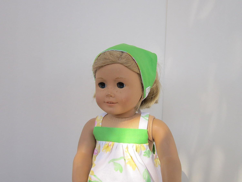 Reversible Head Scarf fits American Girl 4H FARMGIRL MAMA-BABY COW SUNDRESS