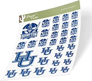 Hampton University HBCU Virginia Pirates NCAA Sticker Vinyl Decal Laptop Water Bottle Car Scrapbook (Type 1-1 Sheet)