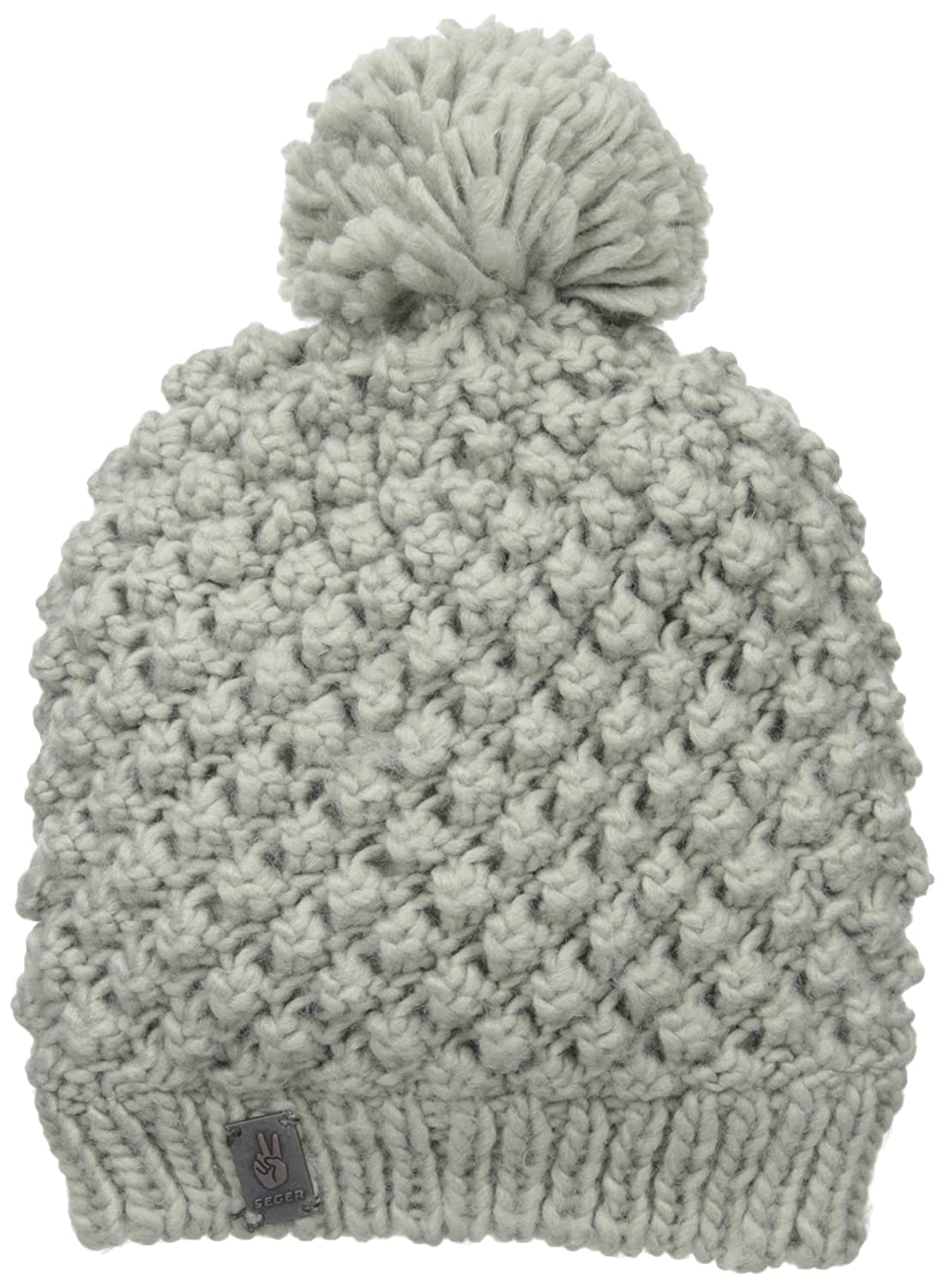 Seger Sports womens Acrylic Beanie With Fleece Lining and Pom-pom Grey One Size SH350