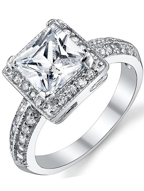 Wedding Silver Rings 34 Cute Amazon Carat Princess Cut