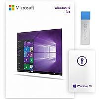 Windows 10 Pro USB 64 Bit / 32 Bit - Windows 10 Professional 32/64 Bit USB Flash Drive - for 1 PC